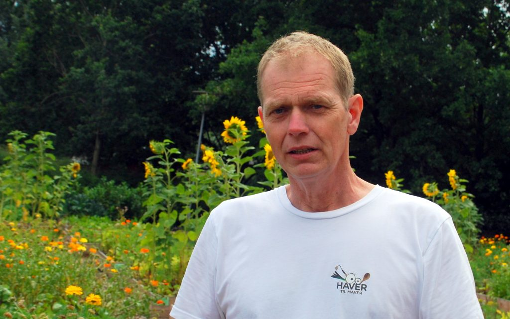Pædagog Jesper Lindenborg er leder af den nye Haver til Maver afdeling på Holluf Pile Skole i Odense. Foto: Ulla Skovsbøl